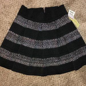 Ginger G Skirt Black / Silver stripe